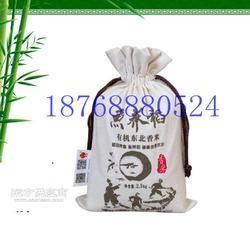 10斤棉布面粉袋定制厂家 束口帆布小米袋图片