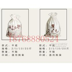 五常�L粒香棉布大米袋定制10斤�Y品麻布大生日�Y物米袋�D片