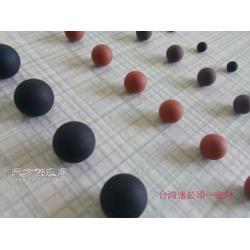 厂家定制耐高压耐腐蚀耐高温振动筛专用黑色无合模线实心橡胶球图片