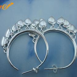 万集饰品 订制银耳环-银耳环图片