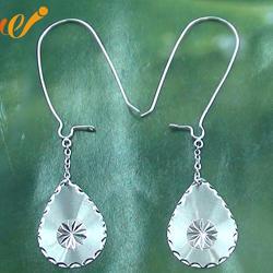 万集饰品 素银耳环-银耳环图片