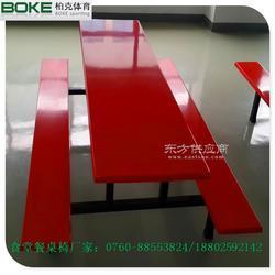柏克饭堂餐桌椅定制玻璃钢快餐桌椅厂家销售图片
