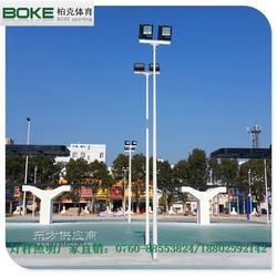 体育场馆预埋式灯杆零售 道路照明灯杆 村委会预埋式灯杆设计图片
