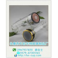 玻璃双层保温杯-双层保温杯-华翔玻璃制品工艺精湛图片
