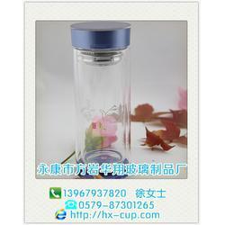 华翔玻璃制品工艺精湛(图)、双层保温杯、山东双层保温杯图片