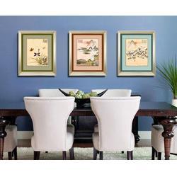 客厅装饰画三联 山水,济南客厅装饰画,丹尼工艺品图片