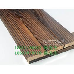 樟子松碳化木板材27乘117规格亲水平台地板安装图片