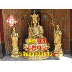 铜雕地藏王厂家|进忠雕塑|滁州铜雕地藏王图片