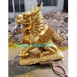 铜仁铜雕麒麟,铜雕麒麟铸造,进忠雕塑(优质商家)图片