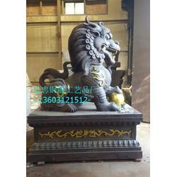 铜麒麟厂家,池州铜麒麟,进忠雕塑图片
