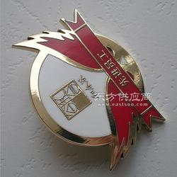 徽章制作厂家 供应个性高档金属徽章 定做胸章logo设计图片