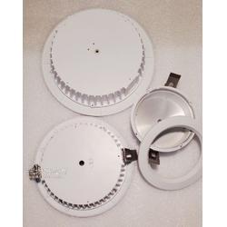 8寸压铸LED筒灯配件厂家 私模LED筒灯外壳图片