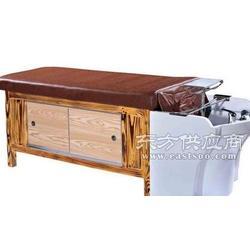 实木玻璃钢盆洗头床图片
