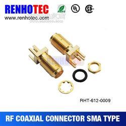 SMA弯头连接器 SMA射频头 SMA卡板连接器图片