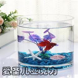 亚克力鱼缸订制|有机玻璃鱼缸vS玻璃鱼缸|陕西有机玻璃鱼缸图片