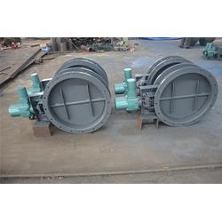 青岛厂家直销DN500双叶片不锈钢气动圆风门、明通电力图片
