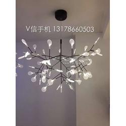 铭星moooi后现代客厅餐厅叶子吊灯创意个性咖啡厅艺术萤火虫吊灯图片