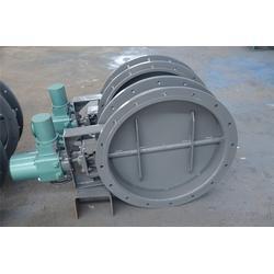 明通供应德州Q235多叶片电动圆风门DN500碳钢电动圆风门图片