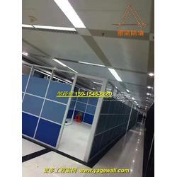 双层板材高隔断 高端办公室双层玻璃隔断墙图片