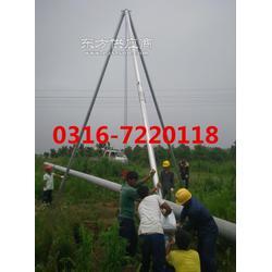铝合金三角拔杆电线杆立杆机图片