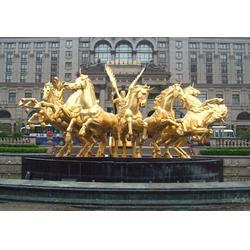 商业街马拉车雕塑|马拉车雕塑|铜马公司—昌盛铜雕(图)图片
