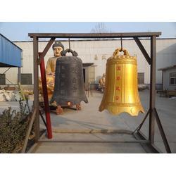 寺庙大型青铜钟厂家,昌盛寺庙大型铜钟图片