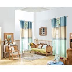 别墅客厅窗帘生产厂家 益盟纺织用品 清远别墅客厅窗帘图片