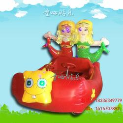 儿童充气电瓶车广场游乐设备图片