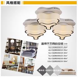 現代客廳玻璃燈臥室LED吸頂燈創意燈具燈飾餐廳臥室燈具廠家圖片