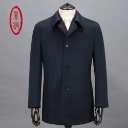 鼎铜服饰 男纯羊绒大衣立领-纯羊绒大衣图片