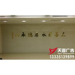 办公室形象墙-天壹达广告-诸城雕刻字形象墙图片