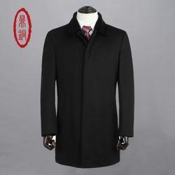 羊毛大衣男士黑色-山东羊毛大衣-鼎铜服饰图片