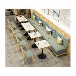人种石火锅桌 人造石餐桌 餐厅桌椅量身定制工厂价销售图片