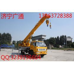 小型吊车16吨汽车底盘 手动液压导叶拐臂小吊车图片