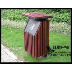 钢结构实木垃圾桶 单桶户外果皮箱 新款耐用别墅酒店室外垃圾桶4102图片