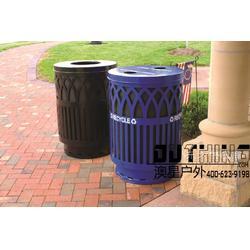 冷轧热镀锌板钢琴烤漆耐用户外垃圾桶 市政园林小区配套设施分类环保铁艺垃圾桶单桶垃圾箱组合图片