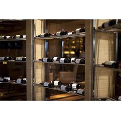 不锈钢酒柜|不锈钢酒柜酒架定制|会所不锈钢酒柜采购图片