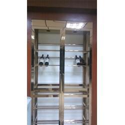 智能温控不锈钢酒柜-不锈钢酒柜-不锈钢红酒展示柜图片