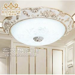 欧式树脂LED圆形电镀吸顶灯图片