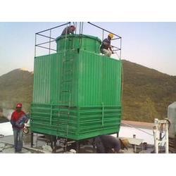 云南玻璃钢冷却塔,玻璃钢除雾器,玻璃钢冷却塔方形图片