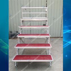 铝合金五层合唱台折叠梯子合唱台阶学校合影架图片