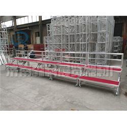 两层台阶合唱台厂家铝合金折叠移动站台学校合影架图片