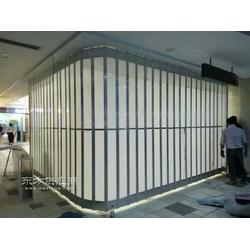富阳和顺定做铝合金折叠门/侧向水晶折叠门采购图片