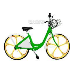 佳德兴无链轴传动公共自行车绿色黄轮加挡板韩国图片