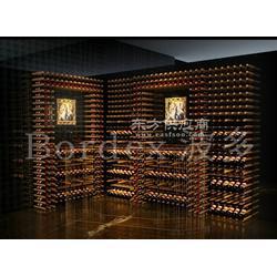 波多酒架、实木酒架以及酒窖设计图片