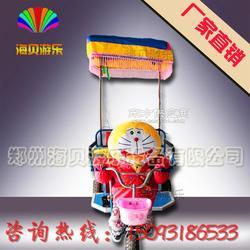 广场小洋人拉车 机器人蹬三轮车 儿童广场游乐设备 小洋人拉车厂家直销图片