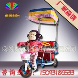 2016新款猴子蹬车 机器人拉三轮车 洋人拉车 毛绒玩具车 音乐洋人车 广场游乐车 无极变速机器人蹬车图片