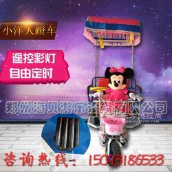 米奇蹬车 机器人蹬三轮车 米奇拉车 小洋人拉车 儿童机器人蹬三轮车图片