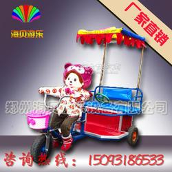 蒙奇奇机器人蹬车 机器人蹬三轮车 机器人蹬车厂家 广场充气城堡滑梯图片
