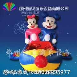 米奇双人充气电瓶车 哪里有卖儿童电动游乐玩具车的 充气电瓶车多少图片